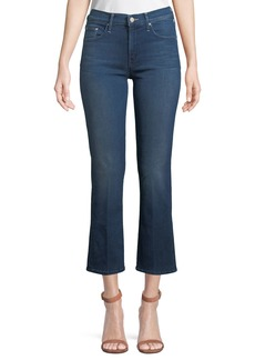Mother Denim The Outsider Cropped Flare-Leg Jeans