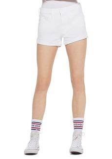 Mother Denim The Rascal High Waist Slit Flip Denim Shorts