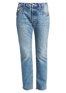 Mother Denim The Scrapper High-Rise Ankle Cuff Jeans