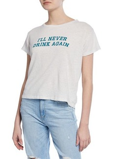 Mother Denim The Sinful Graphic Crewneck Tee