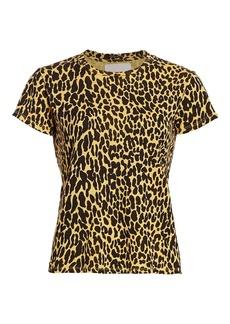 Mother Denim The Sinful Leopard Crewneck T-Shirt
