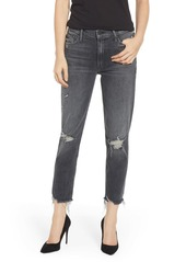 Mother Denim The Sinner Chew Ripped Crop Jeans