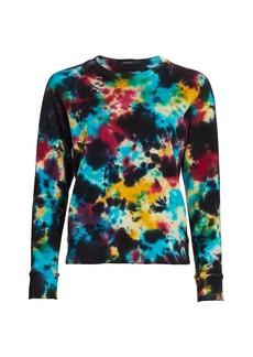 Mother Denim The Square Tie-Dye Sweatshirt