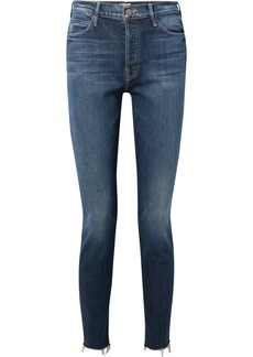 Mother Denim The Stunner Frayed Mid-rise Skinny Jeans