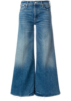 Mother Denim The Stunner Roller high waist cropped flare jeans