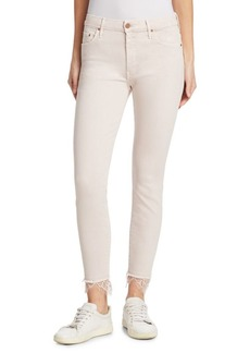 Mother Denim The Swooner Dagger Ankle Lace Jeans