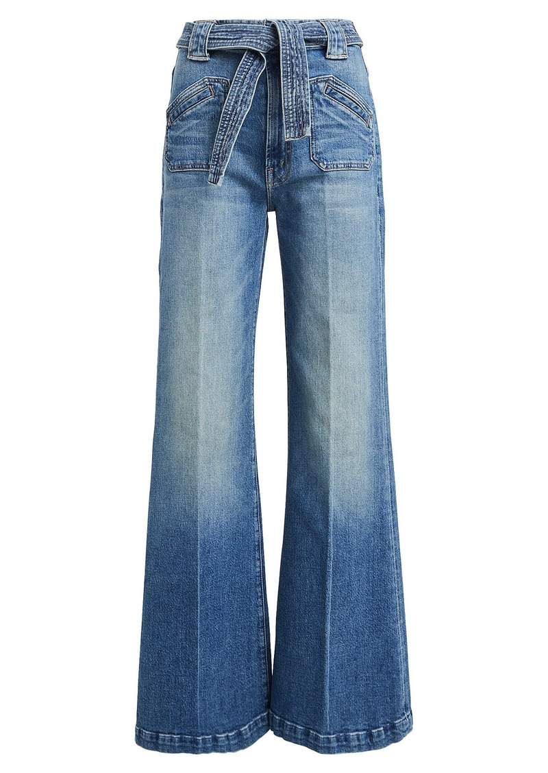 Mother Denim The Tie Patch Roller Jeans