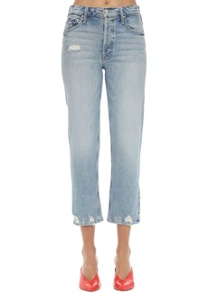 Mother Denim The Tomcat Distressed Cotton Denim Jeans