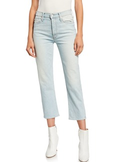 Mother Denim The Tomcat High-Rise Relaxed Crop Jeans