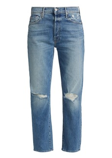 Mother Denim The Trickster Distressed Ankle Jeans