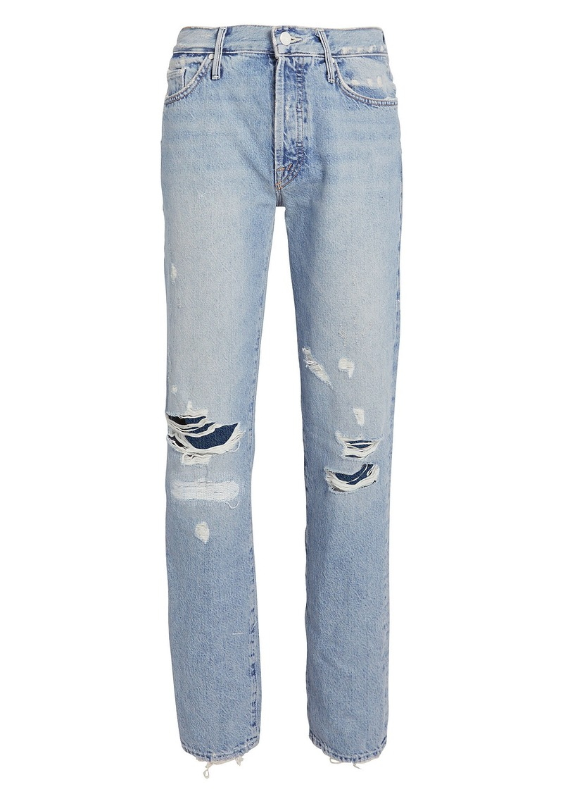 Mother Denim The Trickster Distressed Straight Jeans