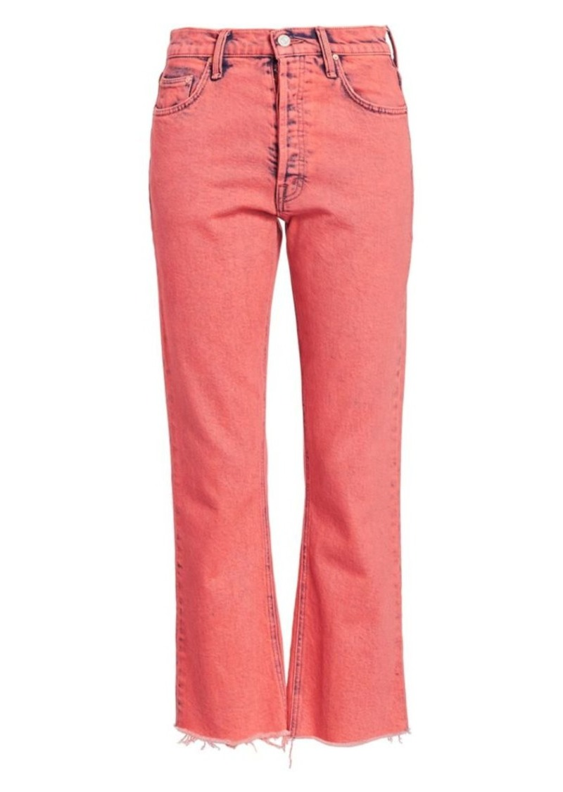 Mother Denim The Tripper Crop Fray Hem Flare Jeans