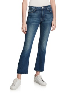 Mother Denim The Tripper Cropped Boot-Cut Jeans