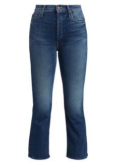 Mother Denim The Tripper High-Rise Crop Bootcut Jeans