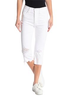 Mother Denim The Tripper Knicker Chew Hem Capri Jeans