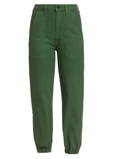 Mother Denim The Wrapper Patch Springy Ankle Cargo Pants