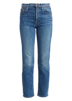 Mother Denim The Tomcat High-Rise Ankle Straight-Leg Jeans