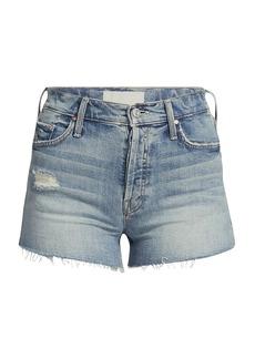 Mother Denim Tomcat Kick Fray Denim Shorts