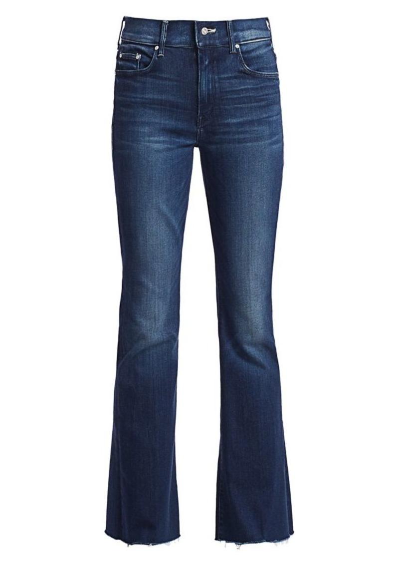 Mother Denim Weekender Frayed Flare Jeans