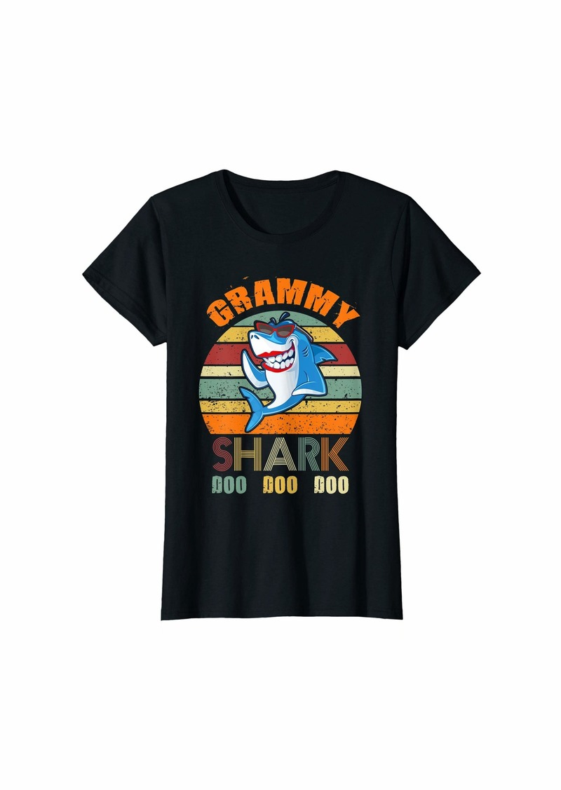 Mother Denim Womens Grammy Shark Mother Shark Doo Retro Vintage Tshirt for Mommy T-Shirt