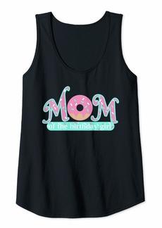 Mother Denim Womens Mom Of Birthday Girl Donut Lover Theme Mommy Tank Top