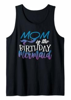 Mother Denim Womens Mom of the Birthday Girl Shirt - Mermaid Bday Tank Top