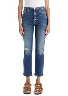 Mother Denim Women's Mother The Pixie Tomcat High Waist Straight Leg Jeans