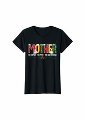Mother Denim Womens Mother The Woman The Myth Family Matching Christmas Gift T-Shirt