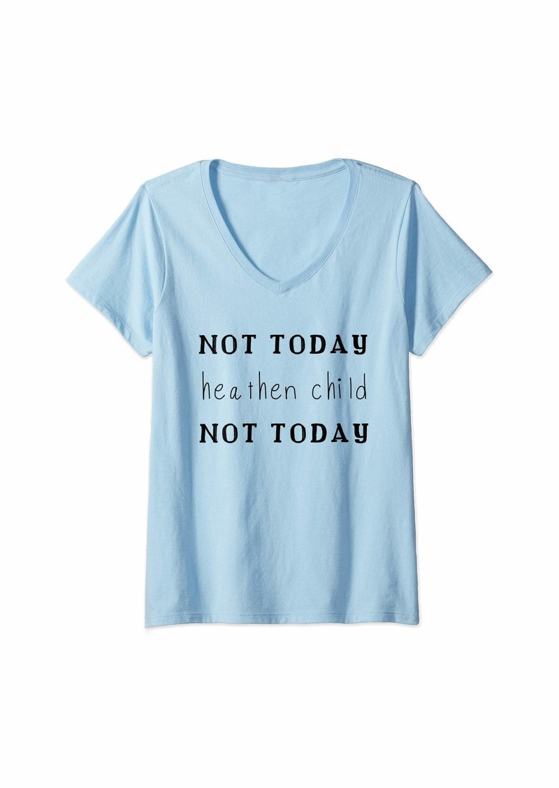 Mother Denim Womens Not Today Heaven Child Funny Mother That Has Boys T Shirt V-Neck T-Shirt
