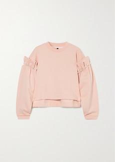 Mother Of Pearl Dani Faux Pearl-embellished Organic Cotton-jersey Sweatshirt