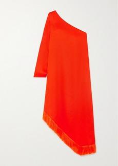 Mother Of Pearl Gwen One-sleeve Asymmetric Fringed Lyocell Midi Dress
