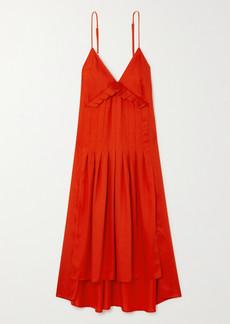 Mother Of Pearl Net Sustain Auraura Asymmetric Pleated Lyocell Midi Dress