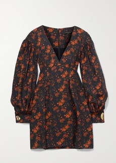 Mother Of Pearl Net Sustain Heidi Floral-print Tencel Lyocell-jacquard Mini Dress