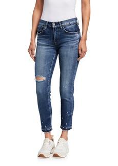 Moussy Clovis Cropped Distressed Denim Jeans