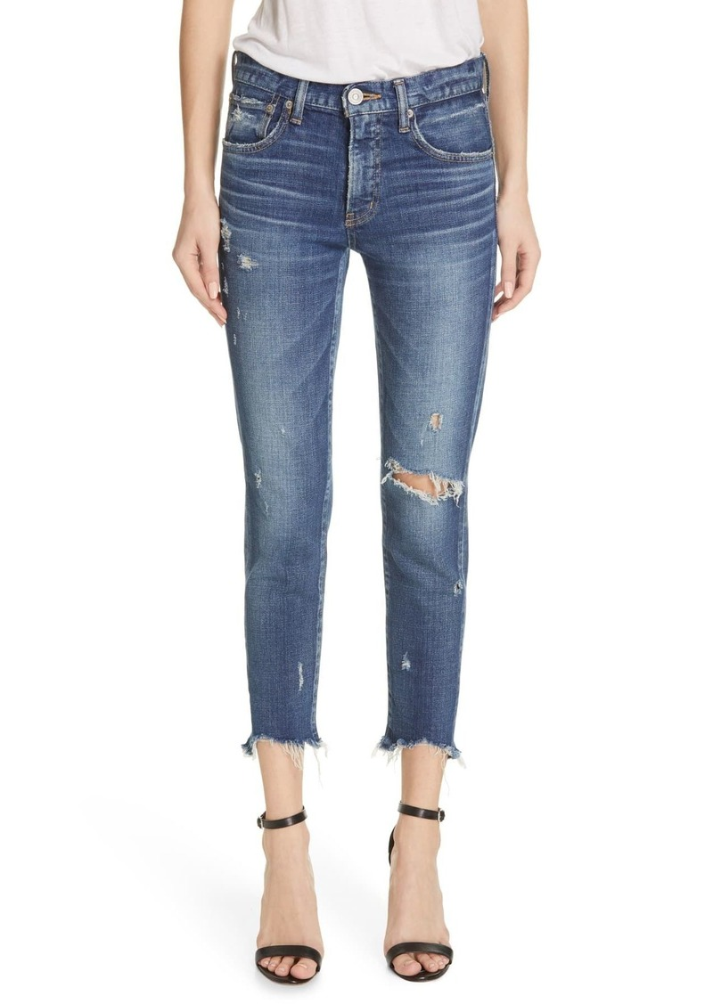 Moussy Glendele Ripped Ankle Skinny Jeans