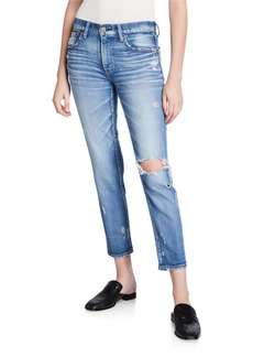 Moussy Helendale Distressed Light-Wash Skinny Jeans