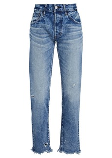 Moussy Keller Mid-Rise Tapered Jeans
