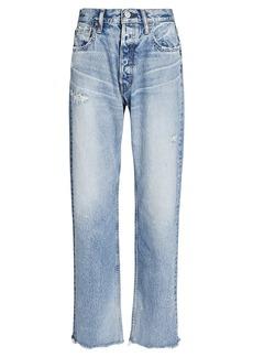 Moussy Lomita Wide Straight-Leg Jeans