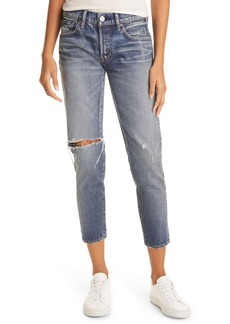 MOUSSY Pittsgrove Tapered Nonstretch Ankle Jeans (Blu 113)