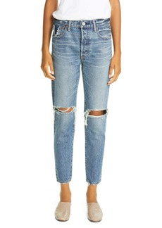 MOUSSY Vintage Beckton Ripped Tapered Jeans