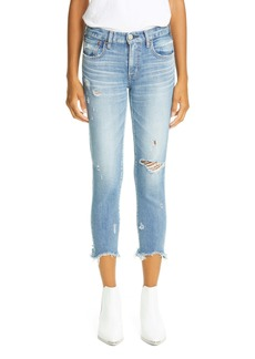 MOUSSY Vintage Glendele Ripped Crop Skinny Jeans (Blu 111)