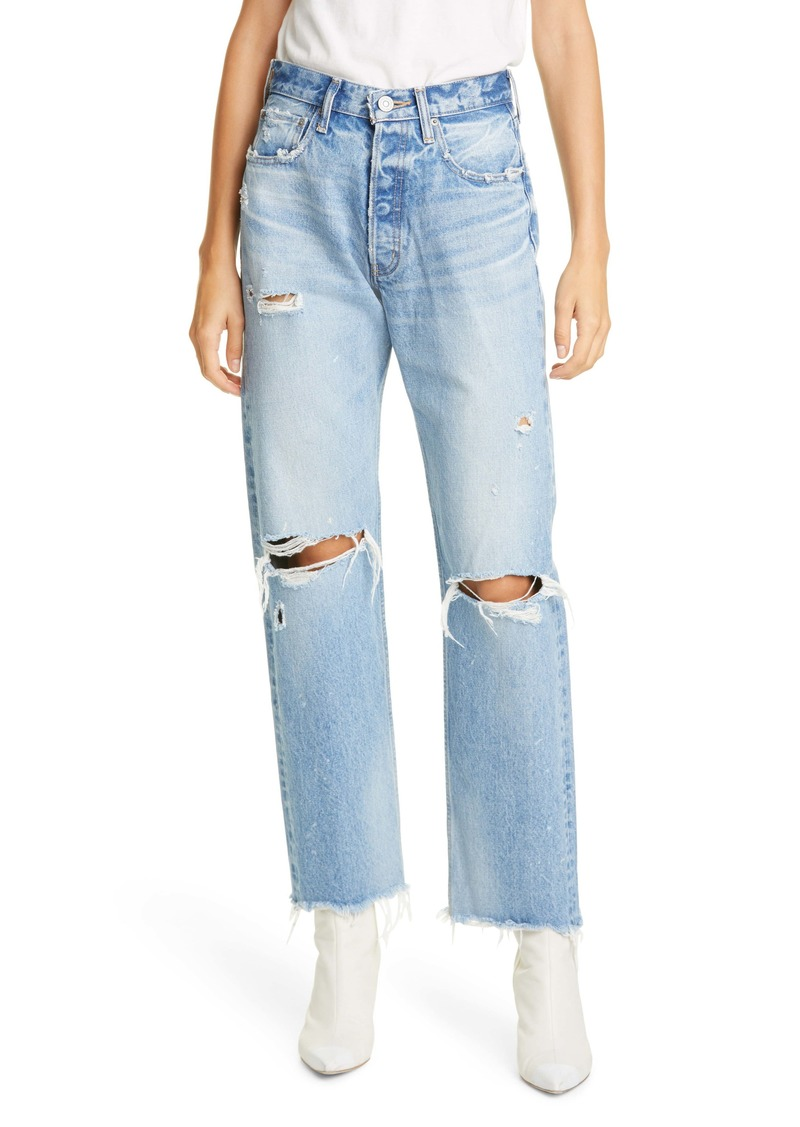 MOUSSY Vintage Odessa Ripped Straight Leg Jeans