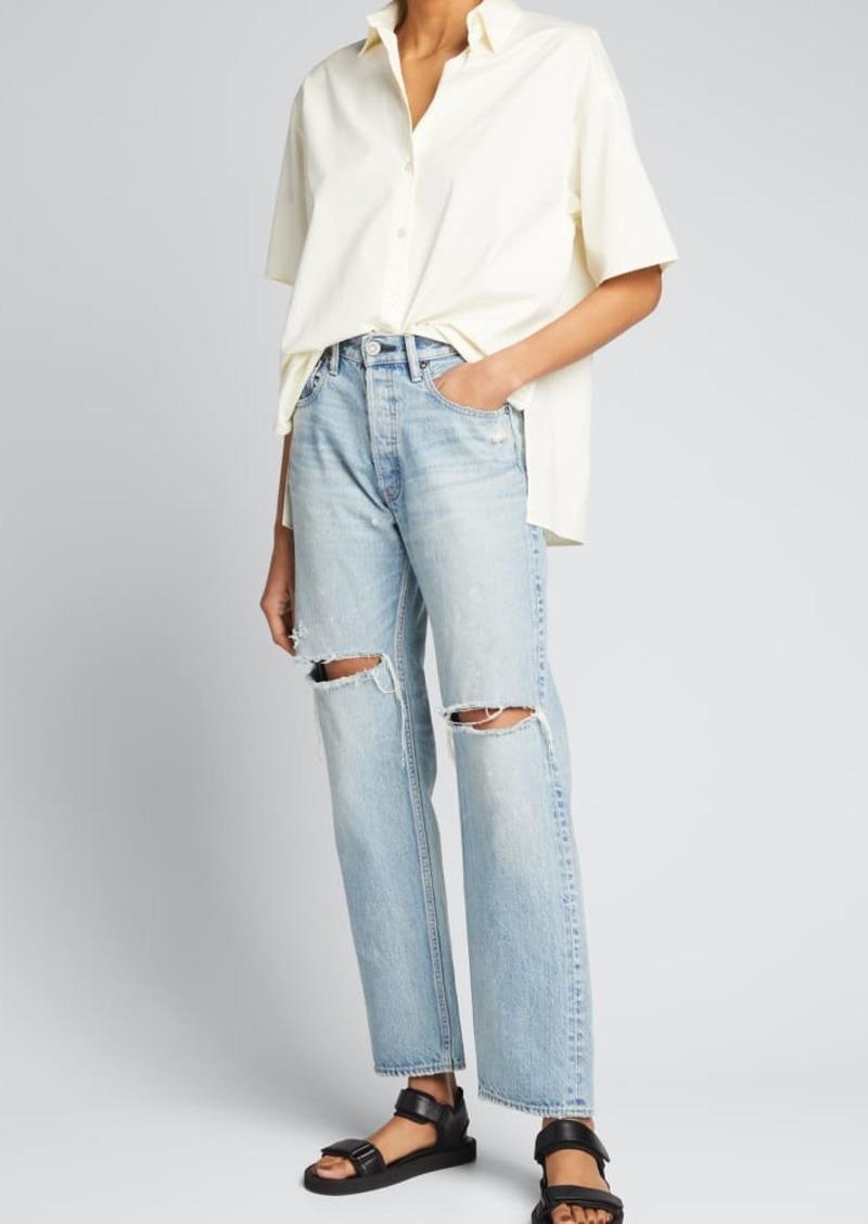 MOUSSY VINTAGE Teaneck Wide Straight-Leg Jeans