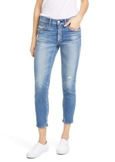 MOUSSY Vintage Velma Distressed Crop Skinny Jeans
