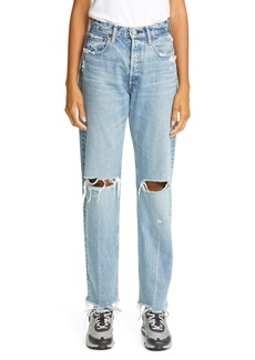 MOUSSY Vintage Viola Ripped Straight Leg Jeans