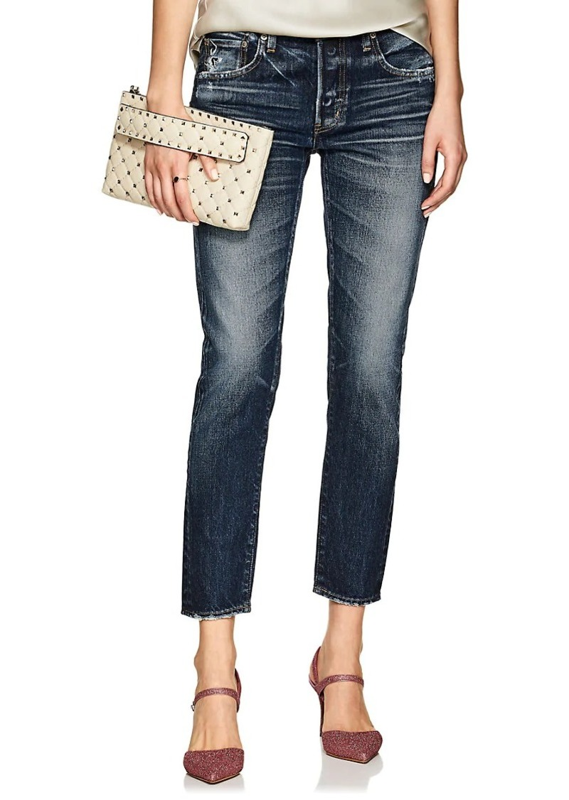 419803a38d5 Moussy MOUSSY VINTAGE Women's Nelson Distressed Tapered Jeans | Denim