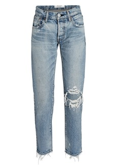 Moussy Raleigh Distressed Tapered Jeans