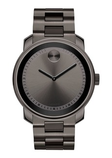 Movado 42.5mm Gunmetal Stainless Steel Watch