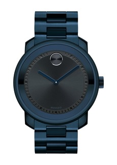 Movado 42.5mm Ink-Blue Stainless Steel Watch