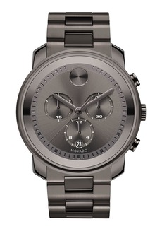Movado 44mm Bold Chronograph Watch  Gray